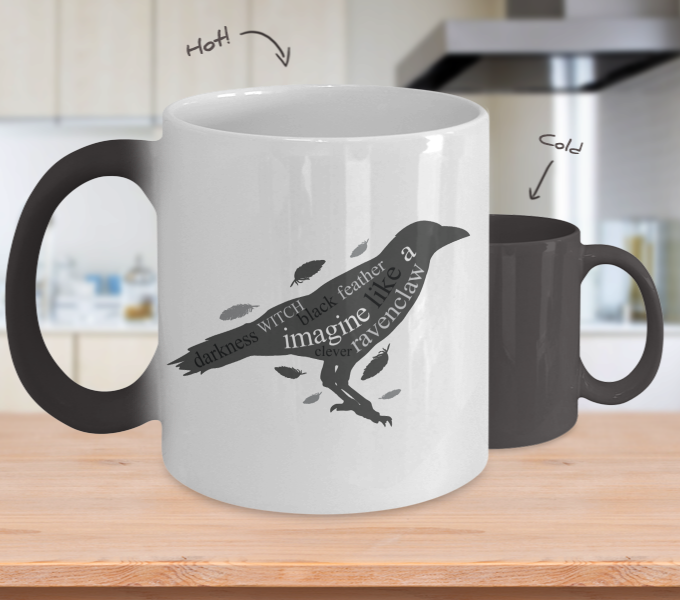 Color Changing Mug Animals Darkness, Witch, Black Feather, Imagine