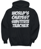 Image of Women and Men Tee Shirt T-Shirt Hoodie Sweatshirt World's Okayest Substitute Teacher