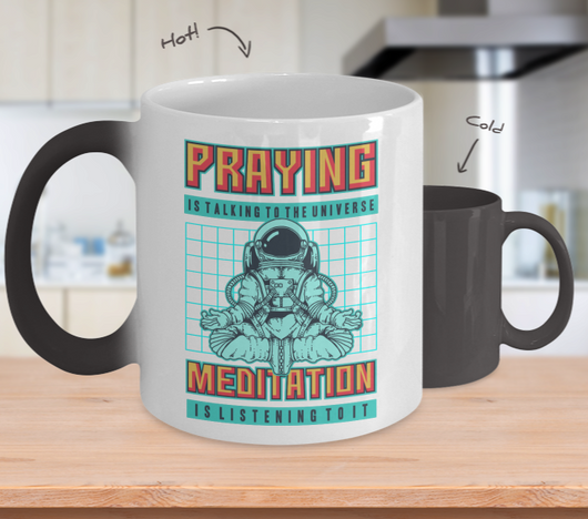Color Changing Mug Retro 80s 90s Nostalgic Cosmos Prayer