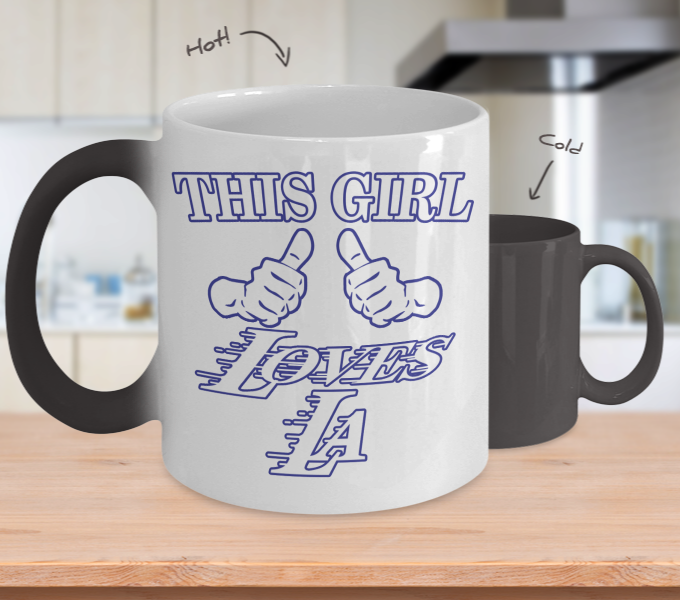 Color Changing Mug Love Where You Live Theme This Girl Loves LA