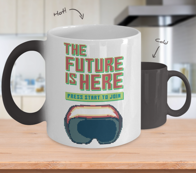 Color Changing Mug Retro 80s 90s Nostalgic The Future Is Here
