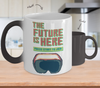 Image of Color Changing Mug Retro 80s 90s Nostalgic The Future Is Here