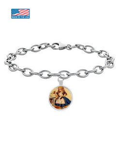Alice In Wonderland Chain Bracelet Vintage Classic Design 1.1