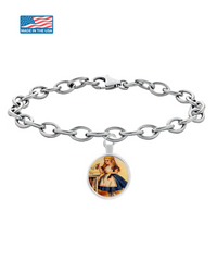 Image of Alice In Wonderland Chain Bracelet Vintage Classic Design 1.1