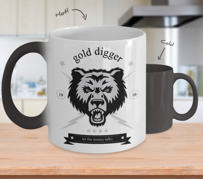 Color Changing Mug Animals Gold Digger Let The Money Talk