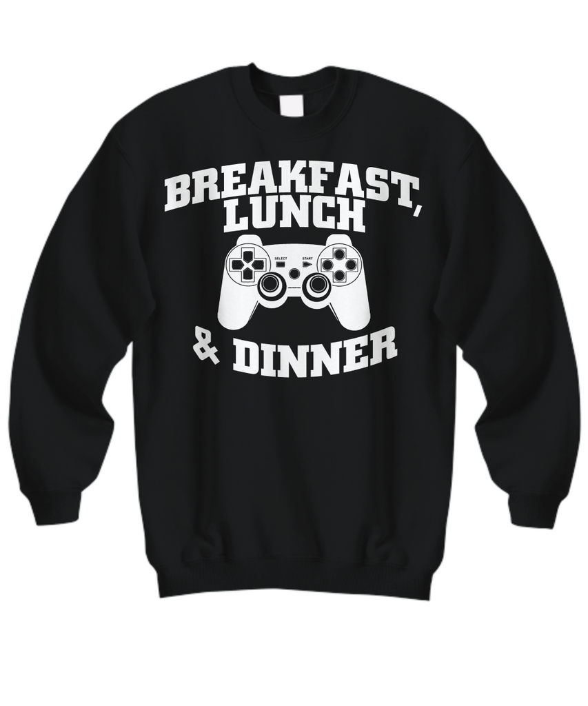 Women and Men Tee Shirt T-Shirt Hoodie Sweatshirt Breakfast Lunch Game & Dinner