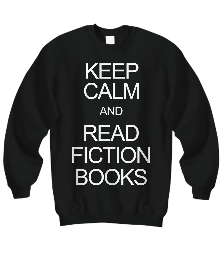 Women and Men Tee Shirt T-Shirt Hoodie Sweatshirt Keep Calm and Read Fiction Books