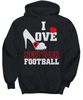 Image of Women and Men Tee Shirt T-Shirt Hoodie Sweatshirt I Love New York FootBall