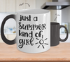 Image of Color Changing Mug Funny Mug Inspirational Quotes Novelty Gifts Just A Summer Kind Of Girl