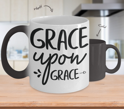 Color Changing Mug Funny Mug Inspirational Quotes Novelty Gifts Grace Upon Grace