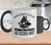 Image of Color Changing Mug Dog Theme When Minutes Count German Sheperds Are Seconds Away