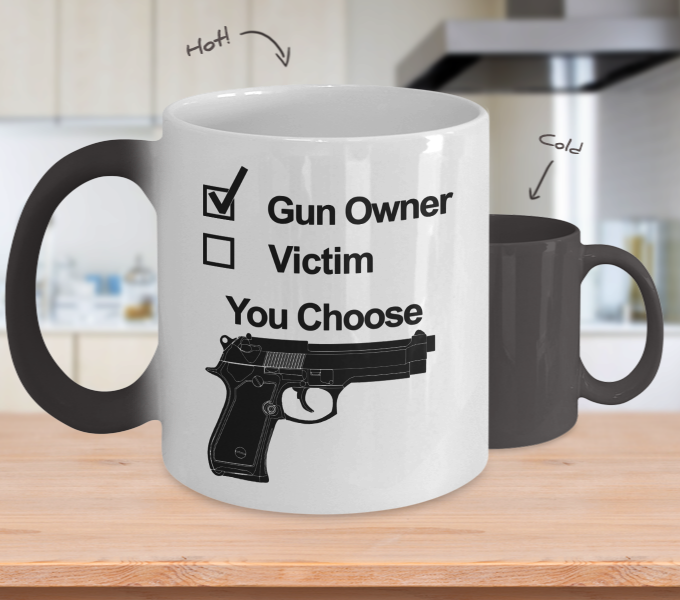Color Changing Mug Hunting Theme Gun Onwer You Choose