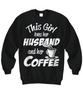 Image of Women and Men Tee Shirt T-Shirt Hoodie Sweatshirt This Girl Loves Her Husband And Her Coffee