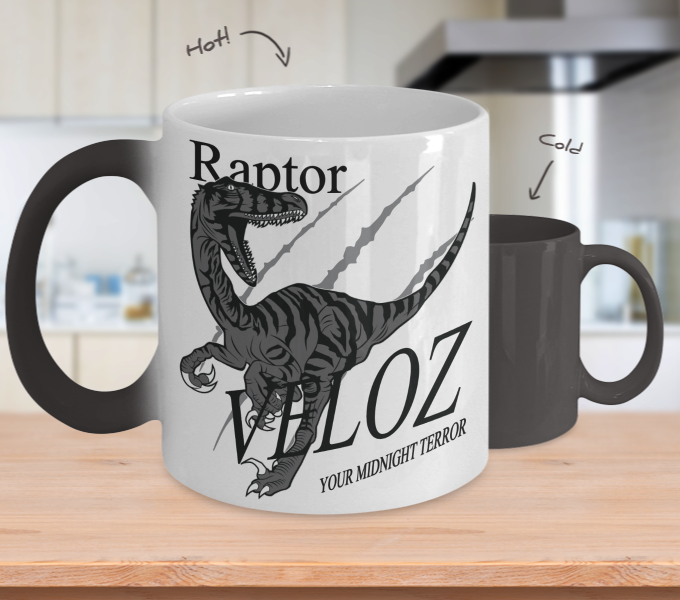 Color Changing Mug Animals Raptor Veloz Your Midnight Terror