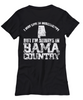 Image of Women and Men Tee Shirt T-Shirt Hoodie Sweatshirt I May Live In Mississippi But I'm Always In Bama Country