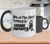 Image of Color Changing Mug Dog Theme Hair On This Shirt Provided By My German Shepherd