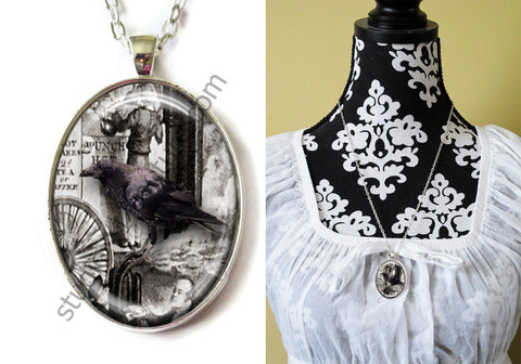 FREE Shipping Plated Metal and Chain Necklace Gothic Steampunk. ZOMBIE STEAMPUNK 20.19