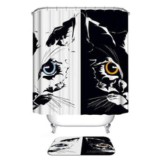 Image of Home Collection Waterproof Bathroom Shower Curtain