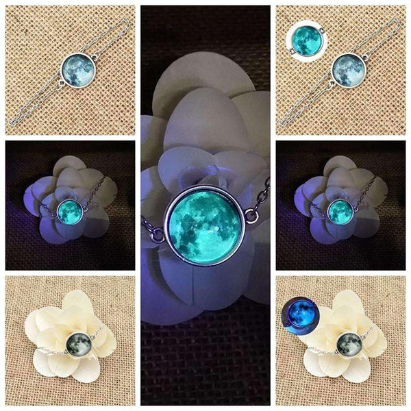 Luminous Glow in the Darkness Planet Crystal Bracelet - STUDIO 11 COUTURE