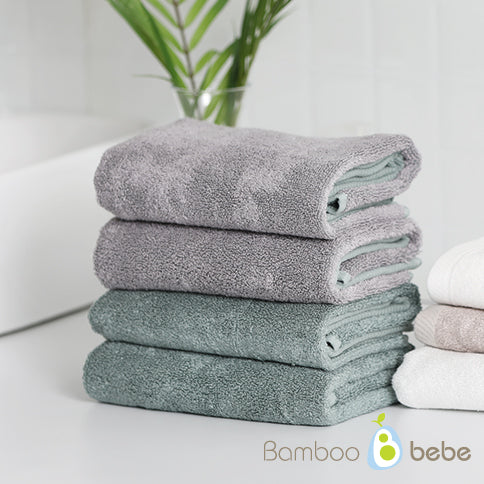 Bamboo Dual Color Face Towel [순한대나무 듀얼컬러 세면타올 _Green/Gray]