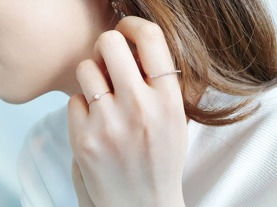 [92.5 silver] Simple Wave Cubic Ring (심플 웨이브 큐빅 / 92.5 silver)