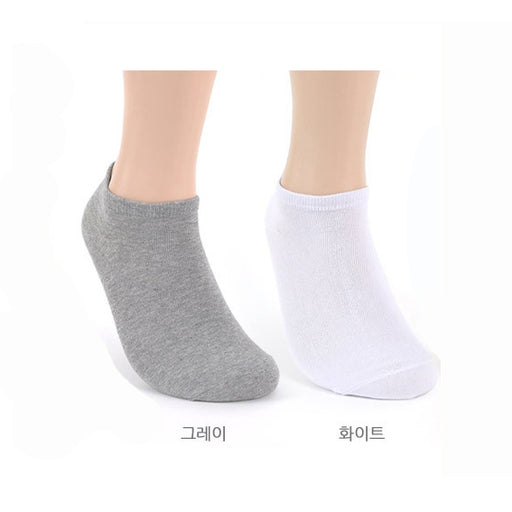 Sneakers Socks Set of 10 pairs for Men and Women  [발목 양말 남/여 10족 세트]