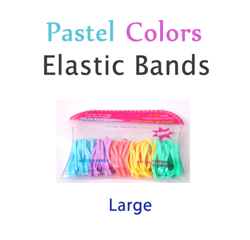 Pastel Hair Elastic Bands (파스텔 헤어 고무줄) Large