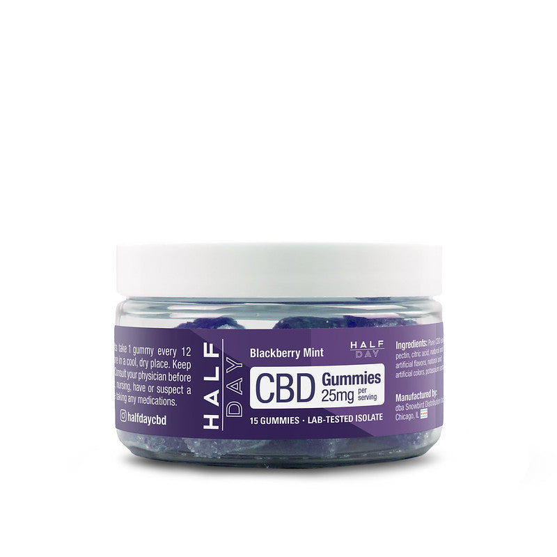 CBD Gummies - Blackberry Mint - 15 count (25 mg/gummy)
