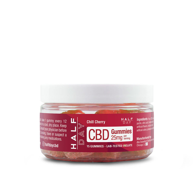 CBD Gummies - Cherry  - 15 count (25 mg/gummy)