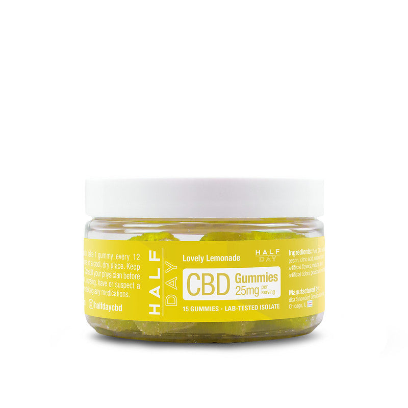 CBD Gummies - Lemonade  - 15 count (25 mg/gummy)