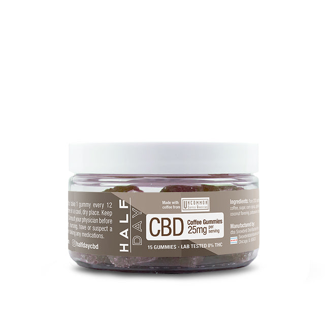 Coffee CBD gummies 25 mg