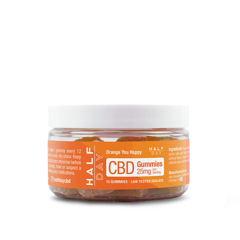 CBD Gummies - Orange  - 15 count (25 mg/gummy)