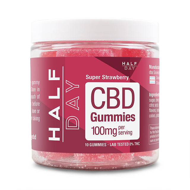 Super Strawberry 100mg CBD gummies