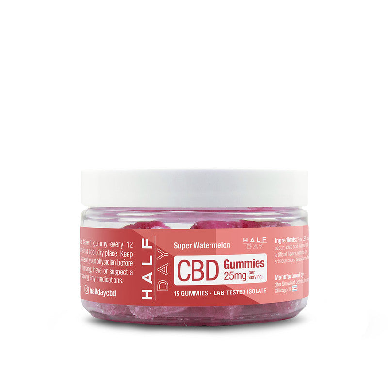 CBD Gummies - Watermelon  - 15 count (25 mg/gummy)