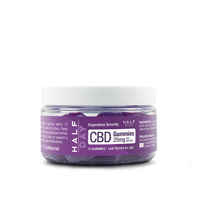 CBD gummies holiday sugarplum 25mg