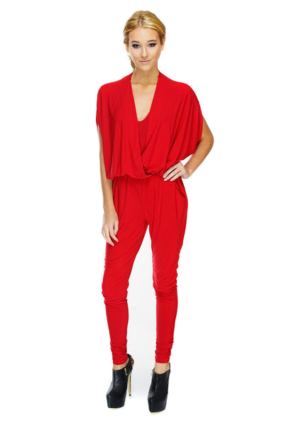 Sonya Jumpsuit - Red - WantMyLook