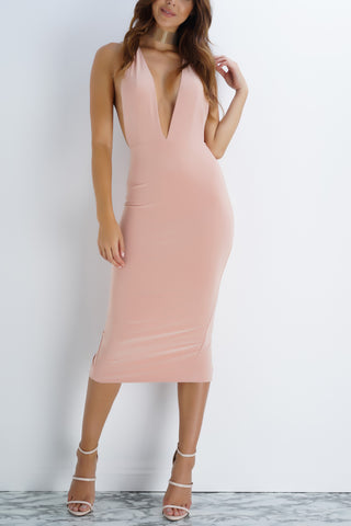 Siri Midi Dress - Blush - WantMyLook