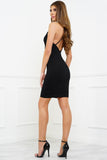 Callie Mini Strappy Dress - Black