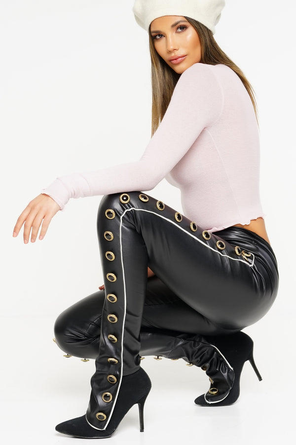 Fatal Attraction Leather Pants - Black