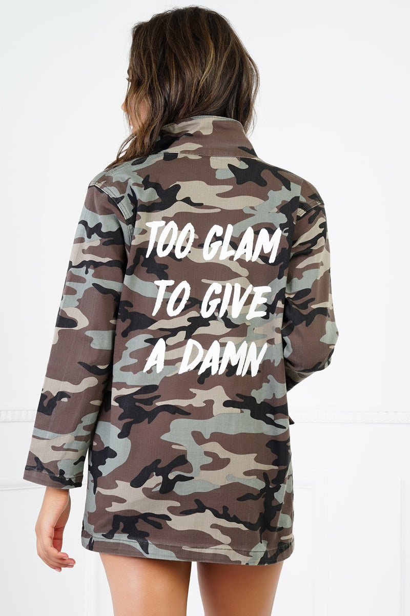 Too Glam Camo Jacket