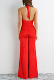 Kayla Satin Jumpsuit - Red