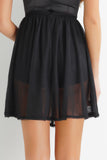 Brielle Mesh Skirt - Black