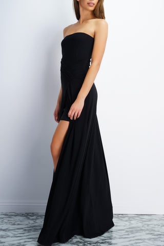 Jodi Strapless Evening Gown - Black - WantMyLook
