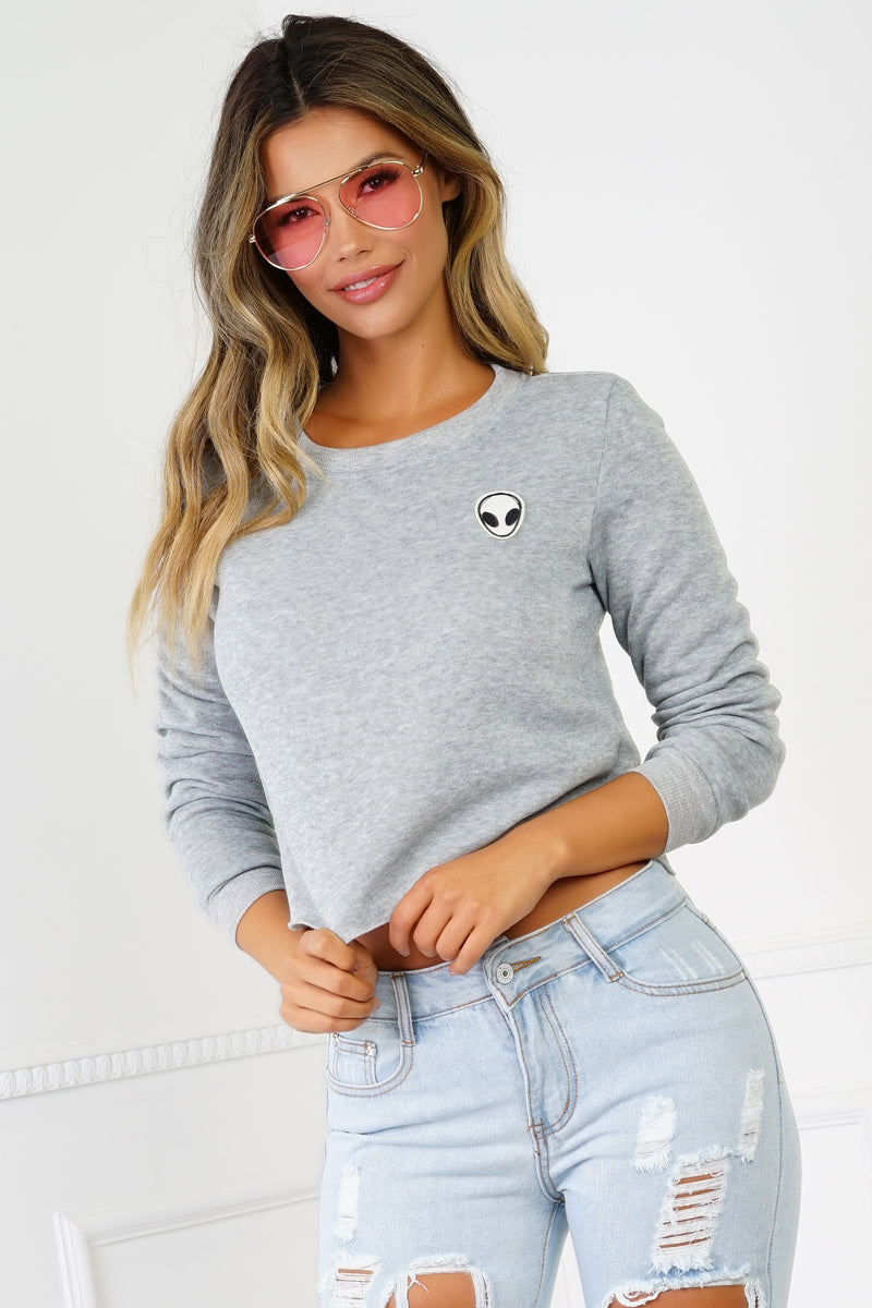 Come in Peace Sweater - Grey