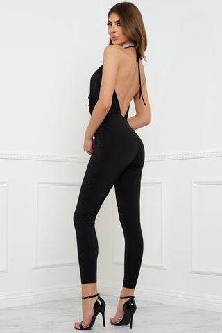 Think Twice Jumpsuit - Black