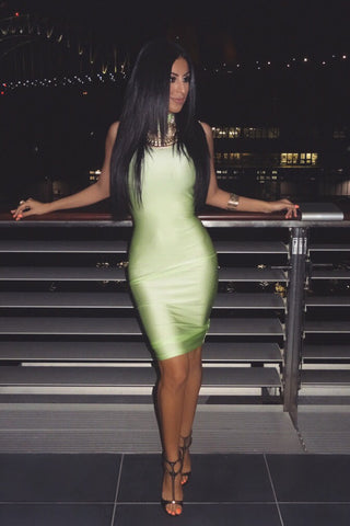 Ella Bodycon Midi Dress - Mint