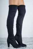 Jamie Boot - Black Lycra - WantMyLook