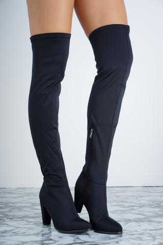 Jamie Boot - Black Lycra