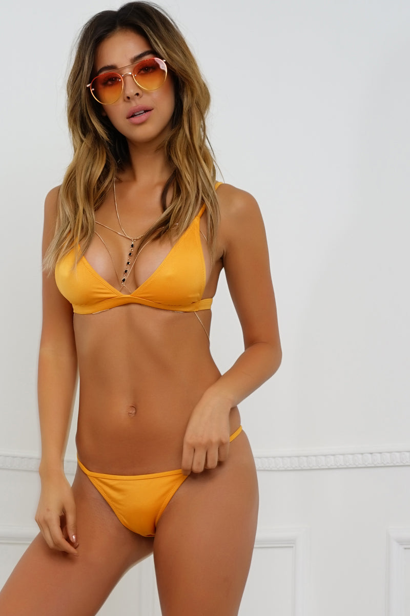 Zipline Swim Top - Metallic Orange