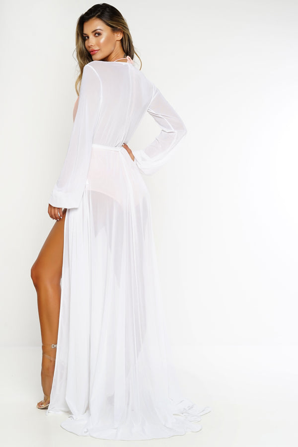 Luna Mesh Cover Up - White